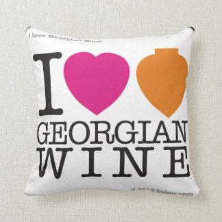 """I Love  Georgian Wine"" Pillow"