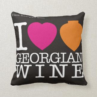 """I Love  Georgian Wine"" Pillow Black"