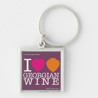 """I Love Georgian Wine"" Purple Logo Key Chain"