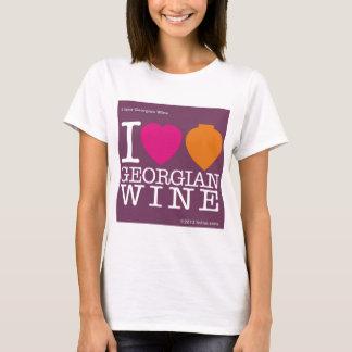 """I Love Georgian Wine"" purple logo T-Shirt"