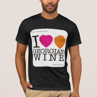 I love Georgian Wine - white logo T-Shirt