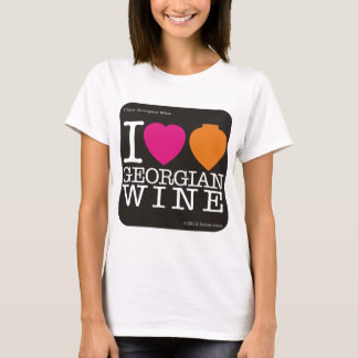 """I Love Georgian Wine"" with black logo T-Shirt"