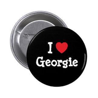 I love Georgie heart T-Shirt Pin