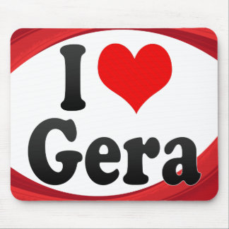 I Love Gera Germany Ich Liebe Gera Germany Mouse Pads