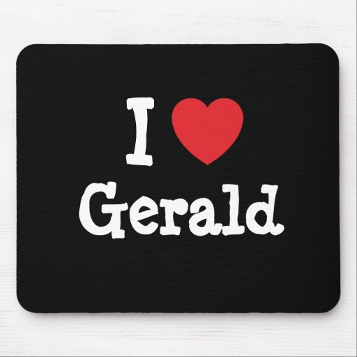 I love Gerald heart custom personalized Mouse Pad