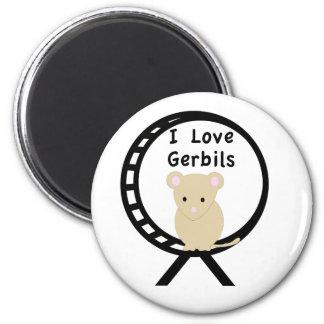 I Love Gerbils 2 Inch Round Magnet