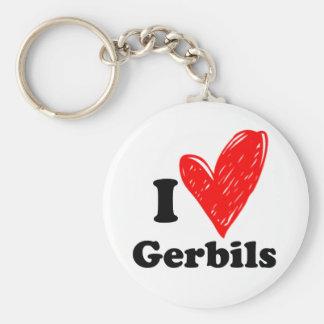 I love Gerbils Basic Round Button Keychain