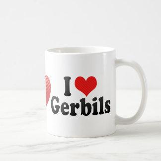 I Love Gerbils Coffee Mugs