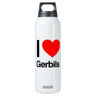 i love gerbils insulated water bottle