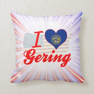 I Love Gering, Nebraska Pillows