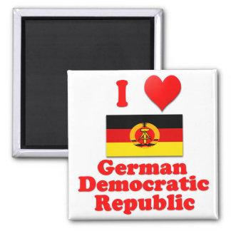 I Love German Democratic Republic 2 Inch Square Magnet