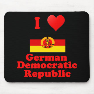 I Love German Democratic Republic Mouse Pad