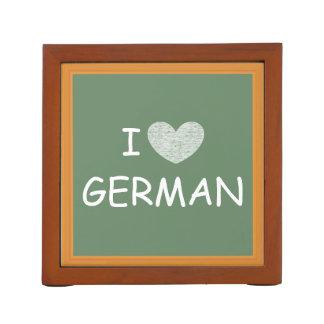 I Love German Desk Organizer