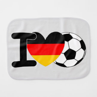 I Love German Football Burp Cloth