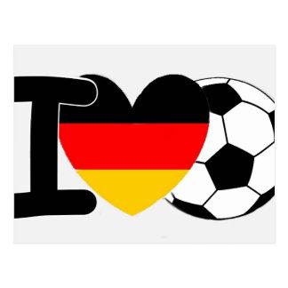 I Love German Football Postcard