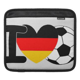 I Love German Football Sleeve For iPads