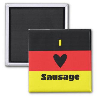 I Love German Sausage Magnet