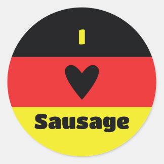 I Love German Sausage Sticker