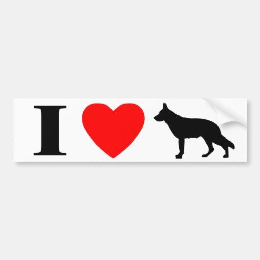 I Love German Shepherds Bumper Sticker