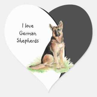 I love German Shepherds Dog, Pet with Heart Heart Sticker