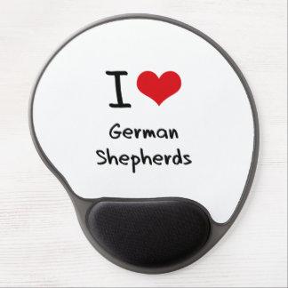 I Love German Shepherds Gel Mousepads