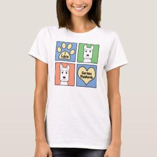 I Love German Shepherds T-Shirt