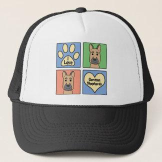 I Love German Shepherds Trucker Hat