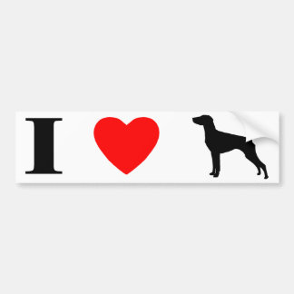 I Love German Shorthaired Pointers Bumper Sticker