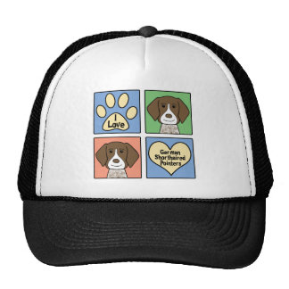 I Love German Shorthaired Pointers Trucker Hat