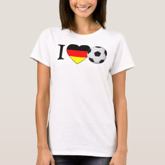 I Love German Soccer (Fussball Deutschland) T-Shirt