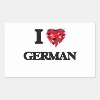 I Love German Rectangular Sticker