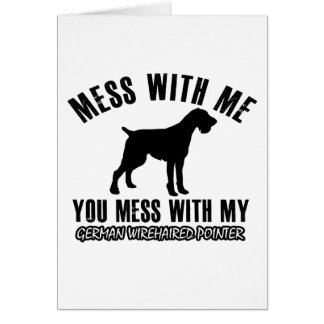 I love GERMAN WIREHAIRED POINTER Greeting Cards