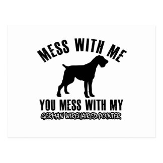 I love GERMAN WIREHAIRED POINTER Postcard