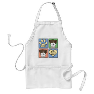 I Love German Wirehaired Pointers Adult Apron