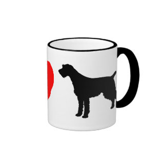 I Love German Wirehaired Pointers Mugs