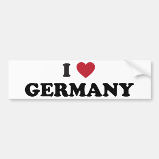 I Love Germany Bumper Stickers