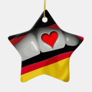 I Love Germany Ceramic Ornament
