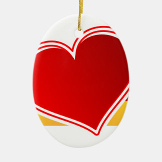 I Love Germany Ceramic Ornament