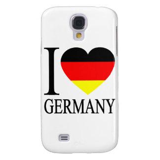 I Love Germany German Flag Heart Galaxy S4 Covers