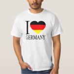 I Love Germany German Flag Heart T-shirt