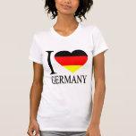 I Love Germany German Flag Heart Tees