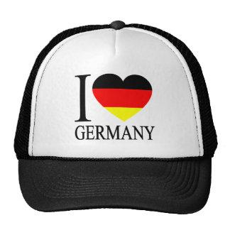 I Love Germany German Flag Heart Trucker Hat