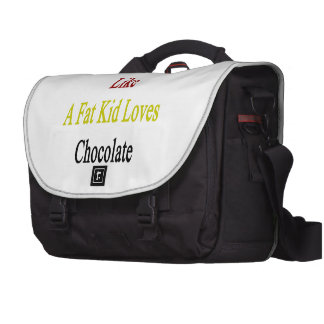 I Love Germany Like A Fat Kid Loves Chocolate Commuter Bags