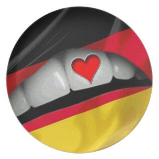 I Love Germany Melamine Plate