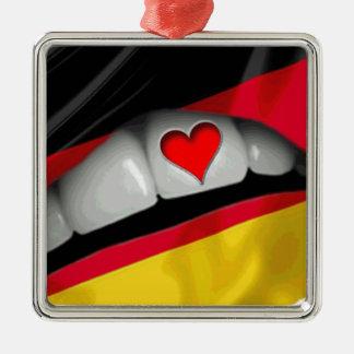 I Love Germany Metal Ornament