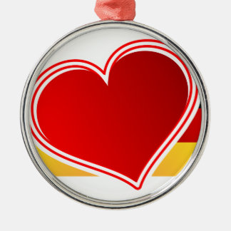 I Love Germany Metal Ornament