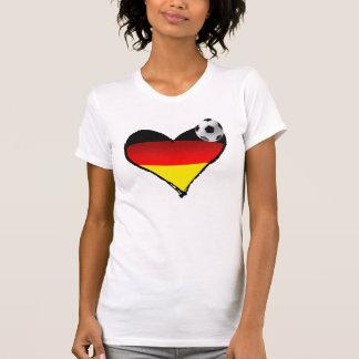 I Love Germany Soccer Heart German Love Tee Shirt