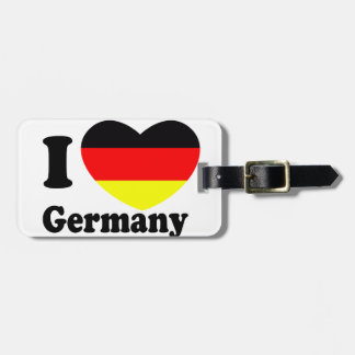 I LOVE Germany Tags For Luggage