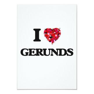 I Love Gerunds 3.5x5 Paper Invitation Card