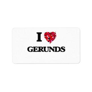 I Love Gerunds Address Label